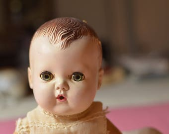 Vintage Tiny Tears Doll From the 50s Rubber and Plastic