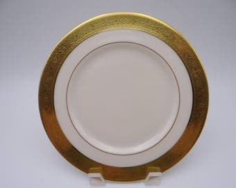 "Vintage Lenox ""Westchester"" Gold Encrusted Salad Plate - 6 Available"