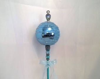 Blue & Silver Queen/Princess Wand/Scepter Costume Prop