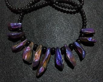 Titanium Quartz Necklace, Titanium Crystals, Quartz Jewelry, Healing Jewelry, Necklace, Purple Necklace, Titanium Jewellery, Quartz Necklace