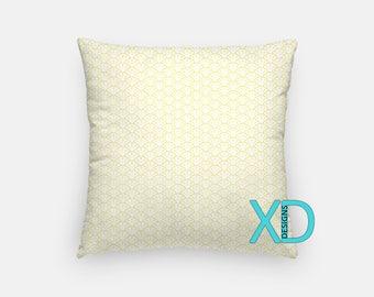 Yellow Shell Pillow, Seashell Pillow Cover, Pastel Pillow Case, Yellow Pillow, Artistic Design, Home Decor, Decorative Pillow Case, Sham