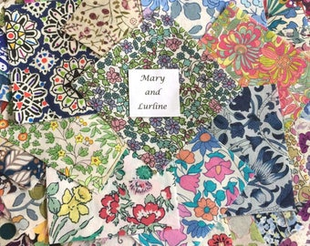 "100 x 1.5"" Squares Lucky Dip Pack of Liberty London Tana Lawn"