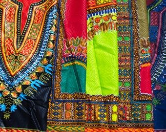 5 Star Dashiki Fat quarter bundle/ 5 Quarters/  Fat quarter bundle/ African Supplies/Quilting fabric/ accessories/ craft supplies WB142