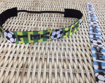 Love Soccer Headband - Womens Sports Headbands - Adjustable Headband - Soccer Team Headbands- Soccer Gift - Adult Headband - Hair Bands
