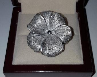 Vintage Charles Garnier Sterling Silver Kelani Flower Ring Size 7.5