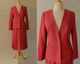 Skirt Suit With Pleated Skirt