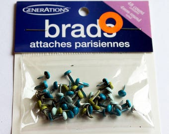 48 Mini Cool Colors Brads Embellishments from Generations Now