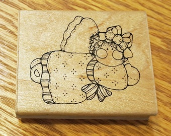 Flying Angel or Fairy Rubber Stamp from JRL Design