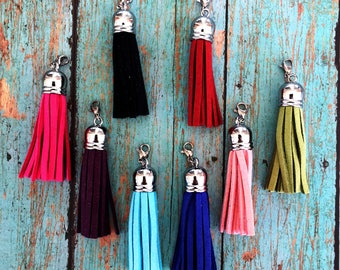 Suede Tassel with Clasp