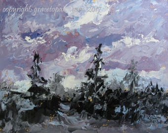 Scrub Silhouettes...Original Oil Painting by Maresa Lilley, SND