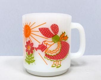 "Glasbake mug ""Everything grows with love"""