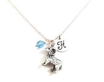Ram Necklace - Initial Necklace - Personalized Necklace - Sterling Silver Jewelry - Gift for Her