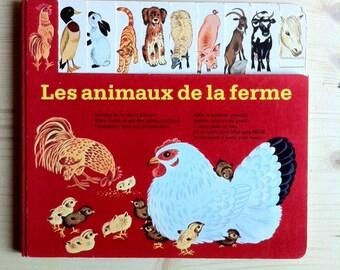 Les animaux de la ferme, french children book , illustrated by Gerda Muller
