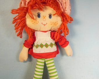 "Vintage Strawberry Shortcake-Rag Doll-16"" All Original-American Greetings-1979-"