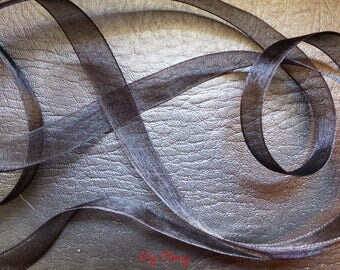 1 meter of 12 mm black organza Ribbon