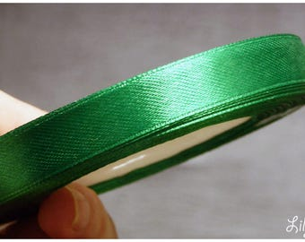 1 meter of Ribbon green satin 12mm