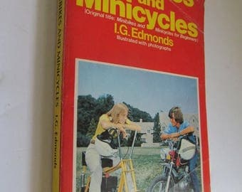On Sale 1975 Minibikes and Minicycles I G Edmunds Paperback Novel Paperback Book Minibike Motorcycle Book
