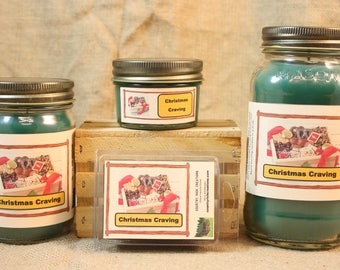 Christmas Cravings Scented Candle, Christmas Cravings Scented Wax Tarts, 26 oz, 12 oz, 4 oz Jar Candles or 3.5 Clam Shell Wax Melts