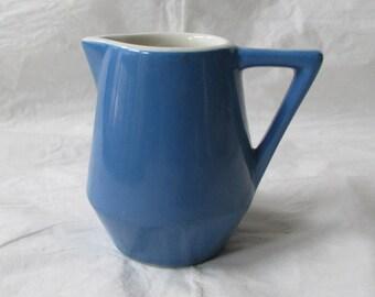 "3.75"" Hall China Dark Blue Creamer Made for AMTRAK"