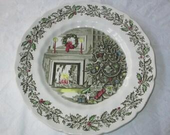 "Johnson Bros. Transferware MERRY CHRISTMAS 10-5/8"" Dinner Plate"