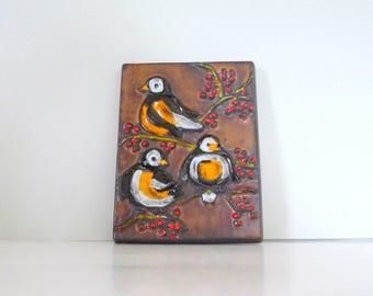 W. German Bird Ceramic Carstens Fat Lava Wall Art 6189 19