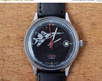 """ON SALE Vintage watch """"Slava"""", NOS watch, Russian watch ,Vintage Watch  ,Mens watch, Mechanical watch, men's watch  Ussr watch"""