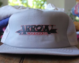 Vintage Grey Arrow Wood Stoves 1980s Trucker Hat
