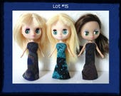 DOLL CLOTHES Lot of 3 Exotic Gowns handmade for Littlest Pet Shop BLYTHE Petite Lot #15