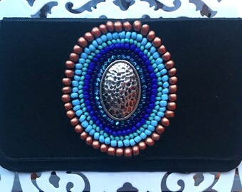 Charm Birth control case - Wallet - Bag - Beaded Wallet - Credit Card Holder -Birth control case -Birth control -Zippered Wallet - Pill Case