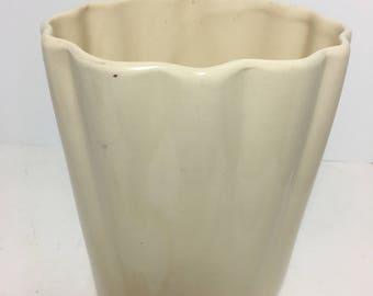 Vintage Beige USA Tapered  Urn Vase