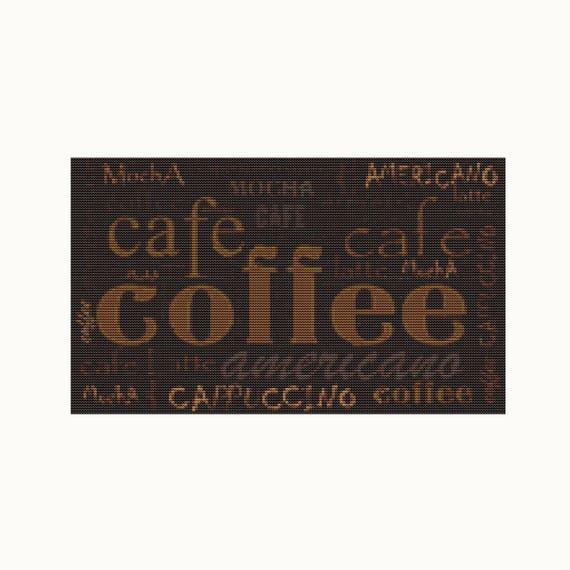 Cross Stitch Pattern PDF - Coffee Menu - Cross Stitch - Instant Download (ART032)