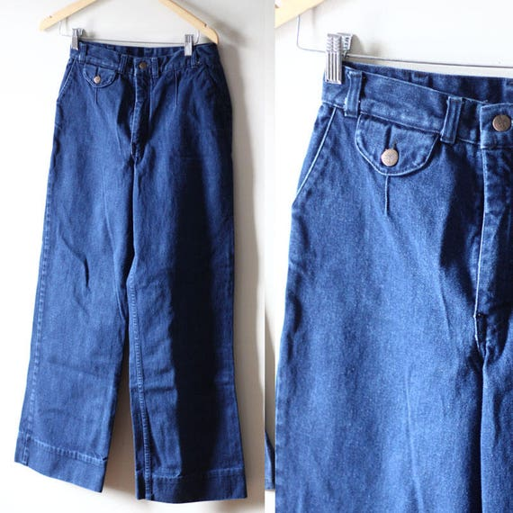1970s seafarer jeans // vintage bell bottom denim // vintage bell bottom jeans