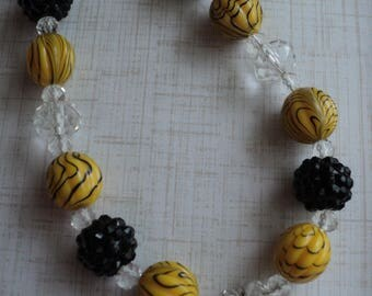"The ""Bumble Bee""  Bead Necklace, Toddler, Girls, Birthday, Photo Prop, M2M Simply Sweet"