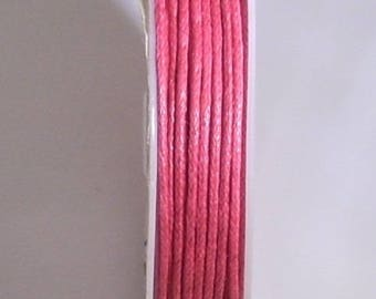 1 METER OF COTTON WAXED 1 MM FUCHSIA