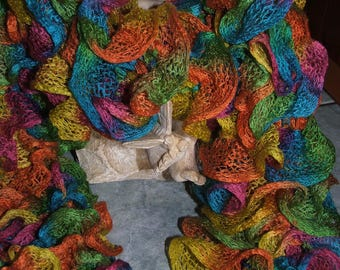 RUFFLE scarf - Handmade - multicolored