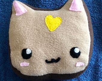 Cat Loaf Plushie / Plush Cat Loaf Bread Slice Breakfast Food Plush Toy