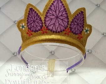Rapunzel Inspired Crown/ Tangled Princess Crown/ Princess Crown Mouse Ear Headband/ Photo Props