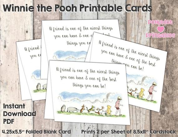 A friend is classic winnie the pooh greeting card instant il570xn m4hsunfo