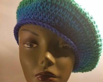Blue mix beret