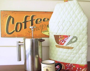 French Press Cozy PDF Sewing Pattern - Coffee Cozy