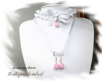White and pink wedding finery PA45