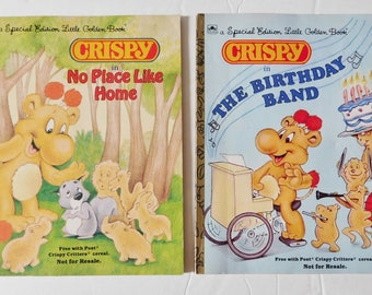 2 vintage Little Golden Books special edition Crispy books