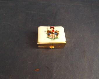 Goebel Hummel Pill Box Jewelry Box