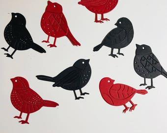 Bird Die Cuts Card and Scrapbook Embellishments Confetti Set 0f 24