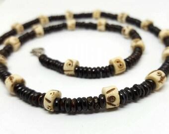 Men's Beaded Tribal Necklace - Men's Jewelry - Men's Necklace - Beaded Necklace - Tribal Necklace