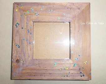 Frame photo Fantasy • stained wood and glitter Fairytale mind •