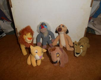 Lot Of 6 Small LION KING Plush Toys