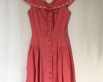 perfectly pink 1950's party dress