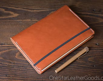 Leuchtturm 1917 Medium (A5) Hardcover Notebook cover, bridle leather - chestnut