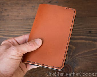 "Notebook cover, 3.5 x 5.5"", Field Notes cover - chestnut / black"